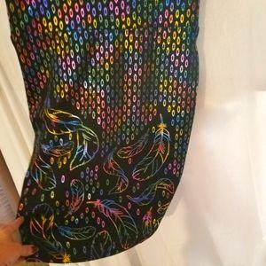 Lularoe Casual Multi Colored Skirt Medium